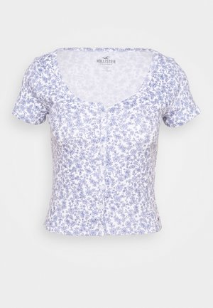 BUTTON THROUGH - T-shirts med print - white/multi coloured