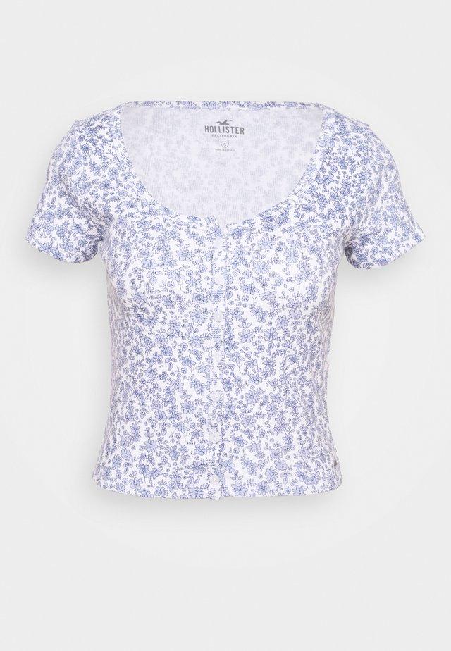BUTTON THROUGH - T-shirts med print - white/multi coloured
