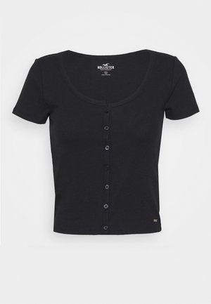 BUTTON THROUGH - T-shirt con stampa - black