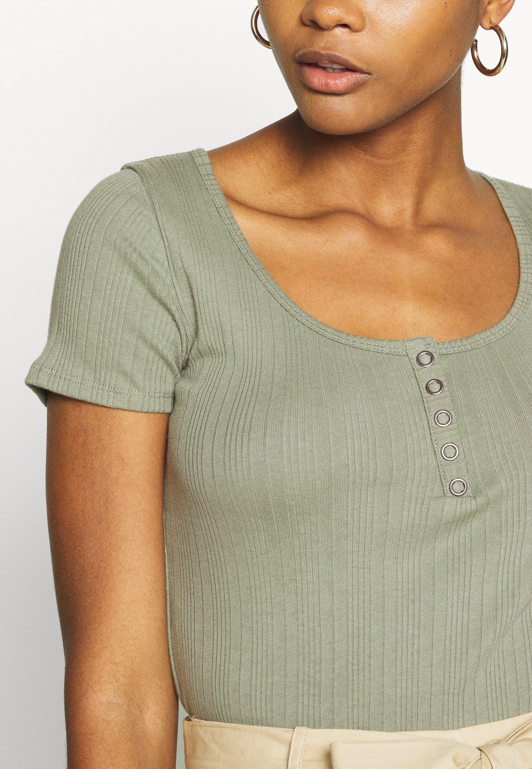 Hollister Co. T shirt imprimé olive ZALANDO.FR