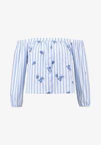 Hollister Co. - TIE FRONT SLIT SHIRT - Blůza - blue/white - 3