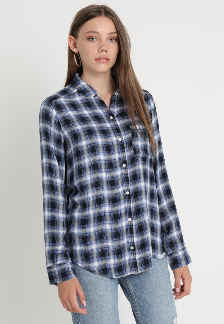 Hollister Co. - PLAID - Overhemdblouse - navy
