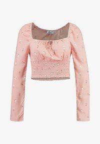 Hollister Co. - CHASE SMOCKED SCOOP NECK - Blůza - pink floral - 4