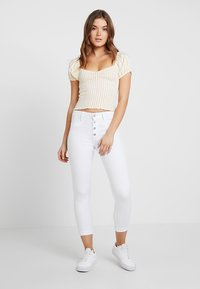 Hollister Co. - SMOCKED BODICE CROP - Blouse - yellow - 1