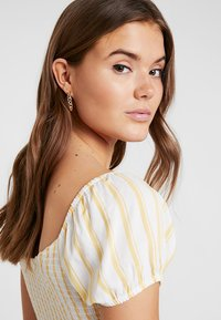 Hollister Co. - SMOCKED BODICE CROP - Blouse - yellow - 3