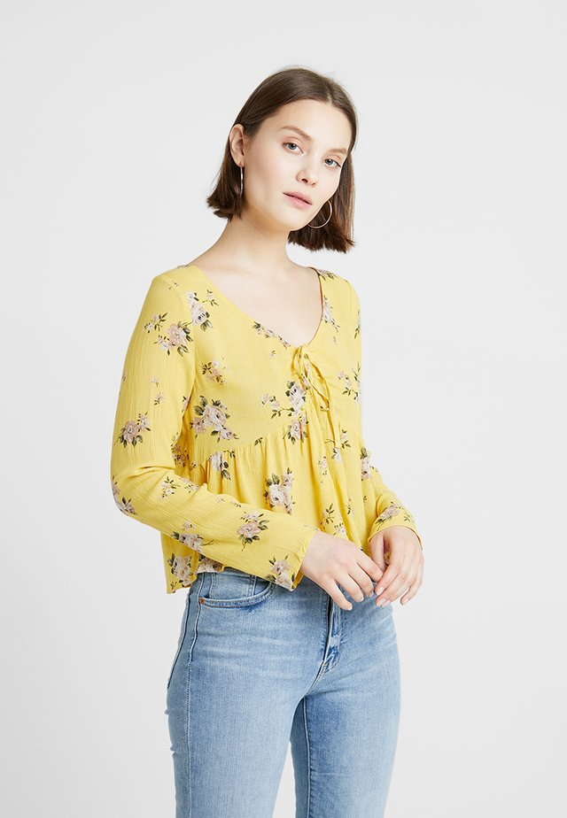 LONG SLEEVE PEASANT - Blus - yellow