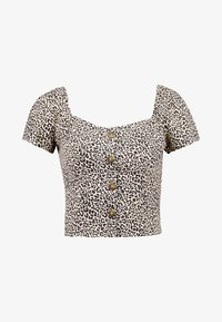 Hollister Co. - SHORT SLEEVE BLOUSE - Bluse - beige/black - 3