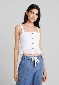Hollister Co. - SMOCKED TANK - Top - white - 0