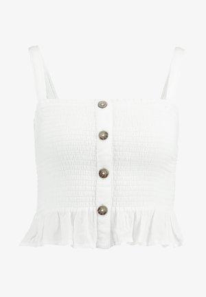 SMOCKED TANK - Top - white