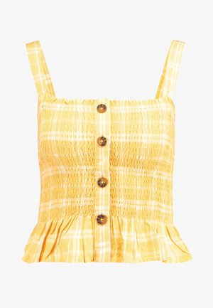 SMOCKED TANK - Top - yellow