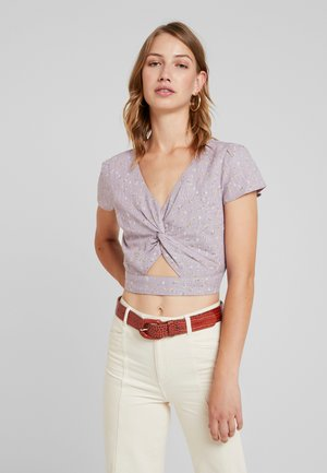 TIE FRONT CROP - Camicetta - lilac