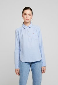Hollister Co. - LONG SLEEVE POPOVER - Blouse - french blue - 0