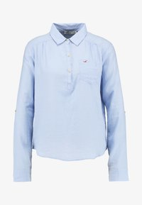 Hollister Co. - LONG SLEEVE POPOVER - Blouse - french blue - 3