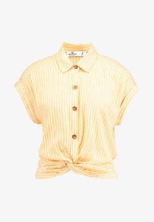 TWIST FRONT CROP - Košile - yellow