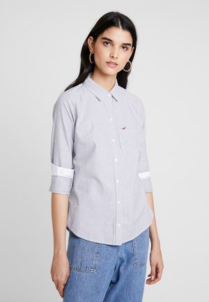 LONG SLEEVE BUTTON FRONT - Button-down blouse - grey