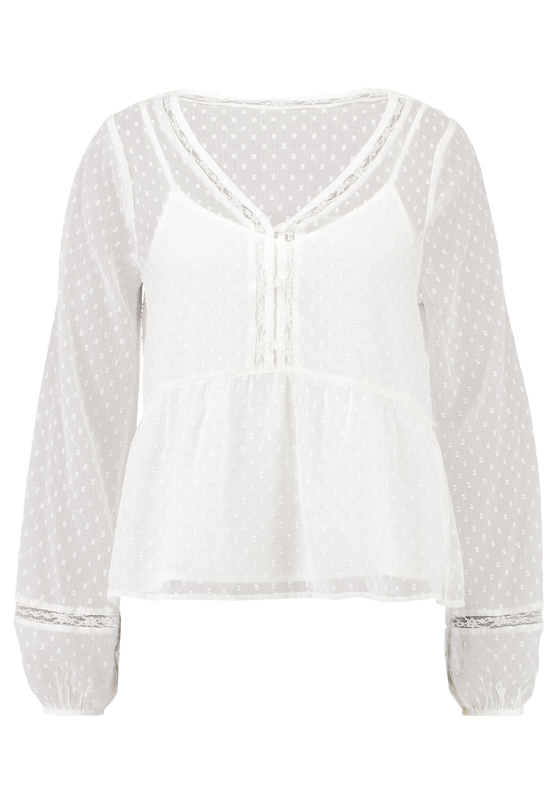 Hollister Co. FASHION - Bluzka - white