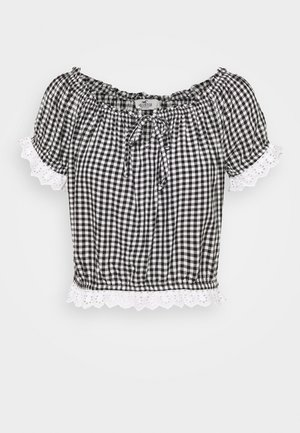 SAFFY - Blouse - black/white