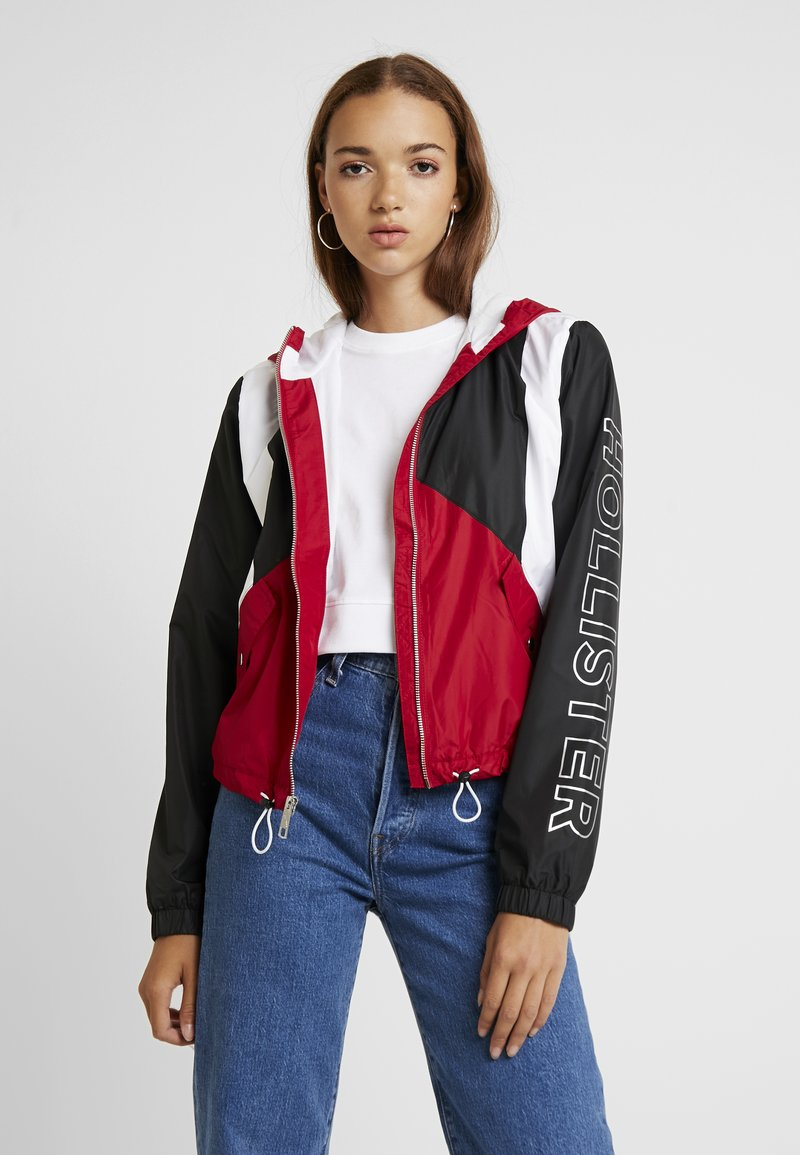 Hollister Co. - CORE FULL ZIP - Cortaviento - red/black/white
