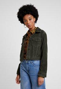 Hollister Co. - CROPPED JACKET - Summer jacket - olive - 0