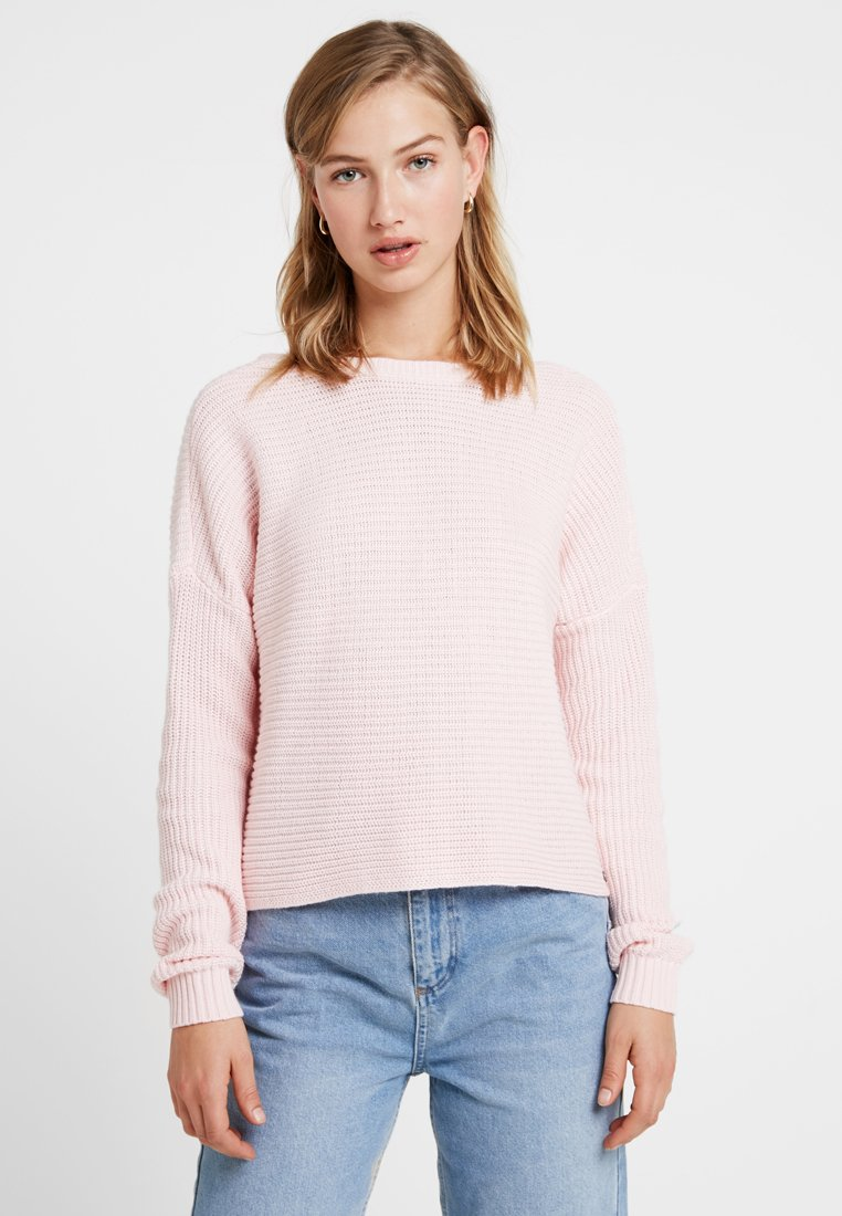 Hollister Co. - WRAP BACK - Sweter - blush