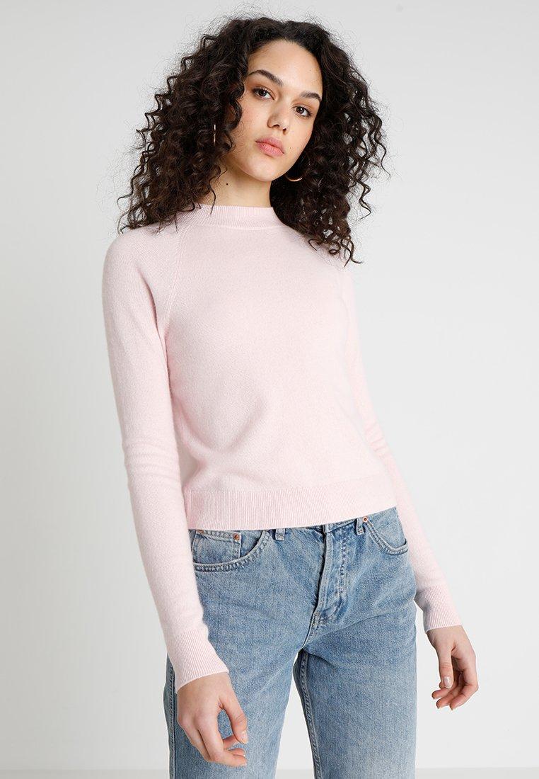 Hollister Co. - MOCK NECK - Stickad tröja - blush