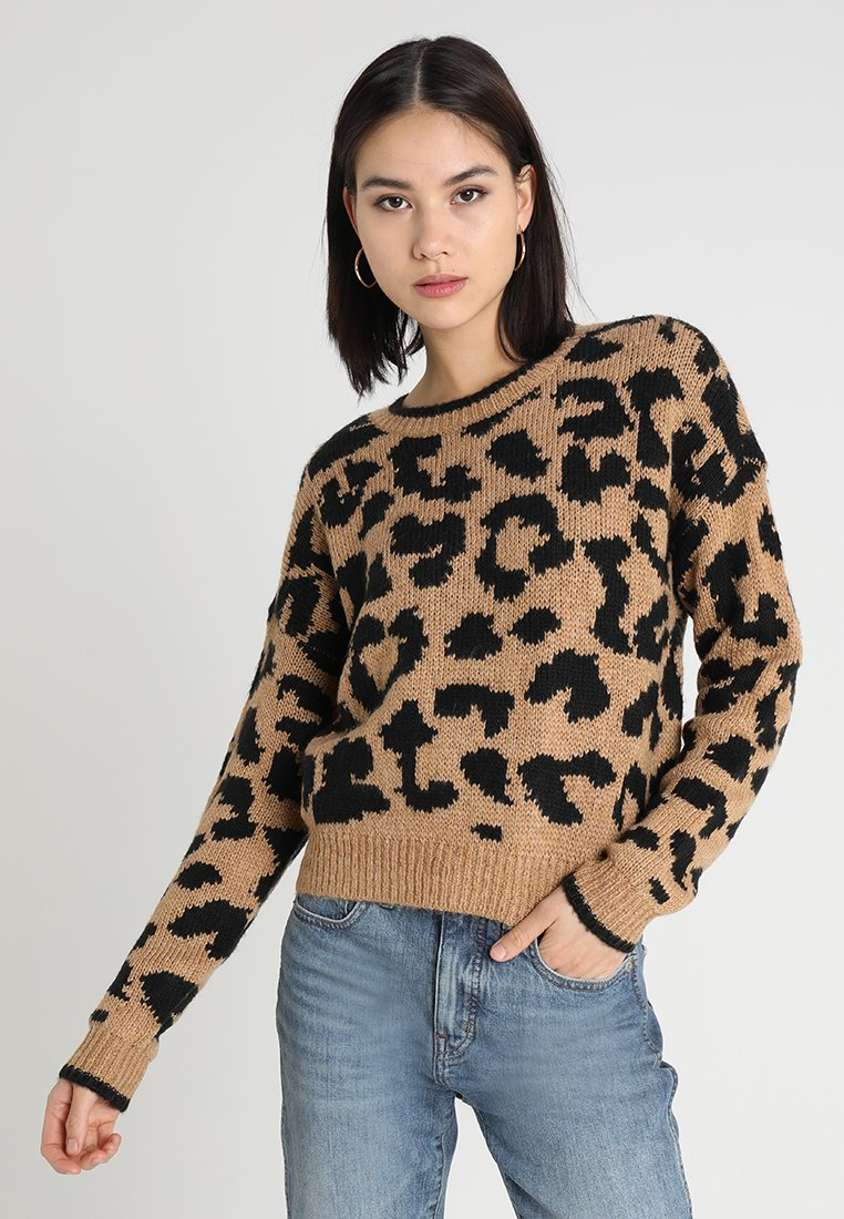 Hollister Co. - PATTERN CREW - Maglione - brown