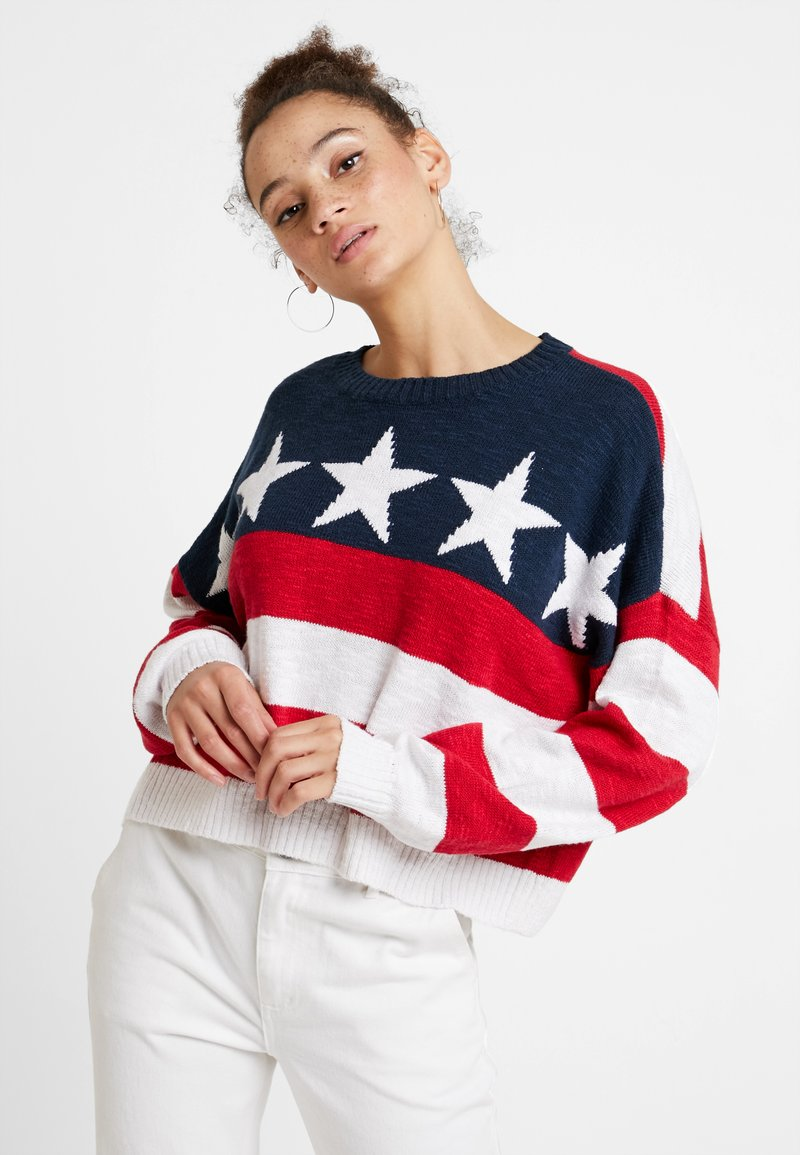 Hollister Co. - AMERICANA - Strickpullover - red/white/blue