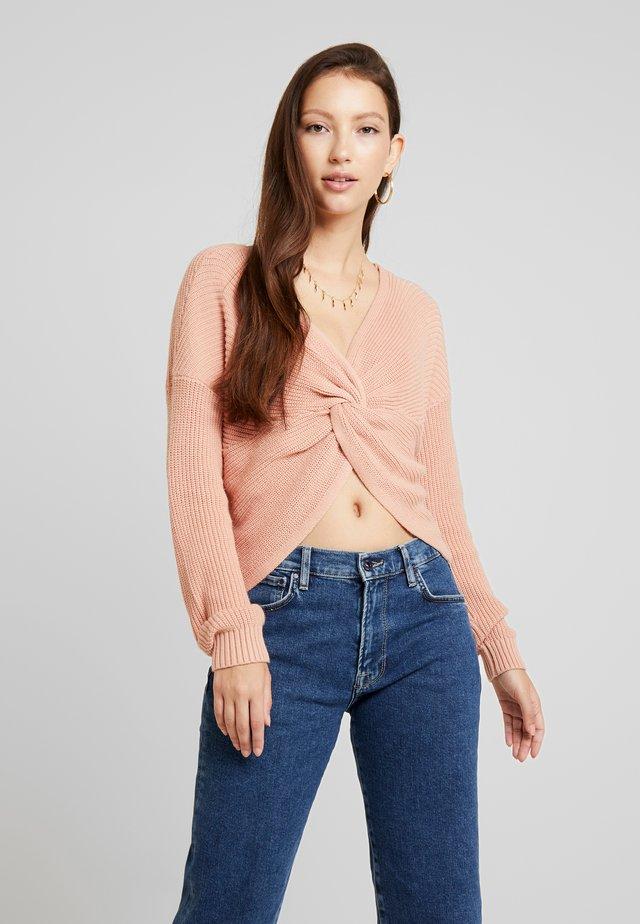 REVERSIBLE TWIST - Jersey de punto - blush