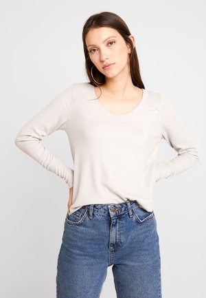 LONG SLEEVE EASY - Topper langermet - tan