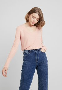 Hollister Co. - LONG SLEEVE EASY - Long sleeved top - canyon rose - 0