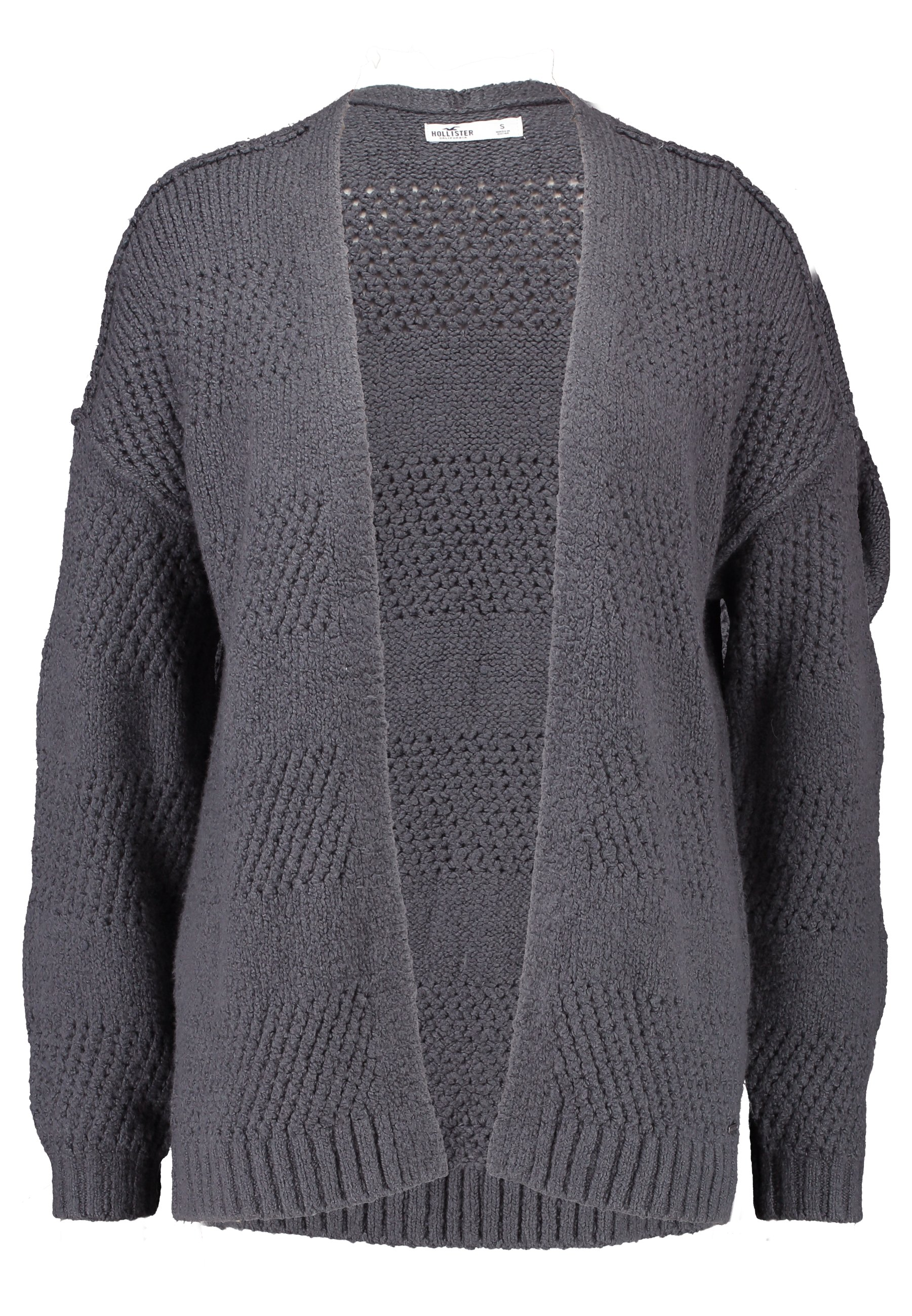 Hollister Co. Airy Stitchy Cardi - Strikjakke /cardigans Dark Grey