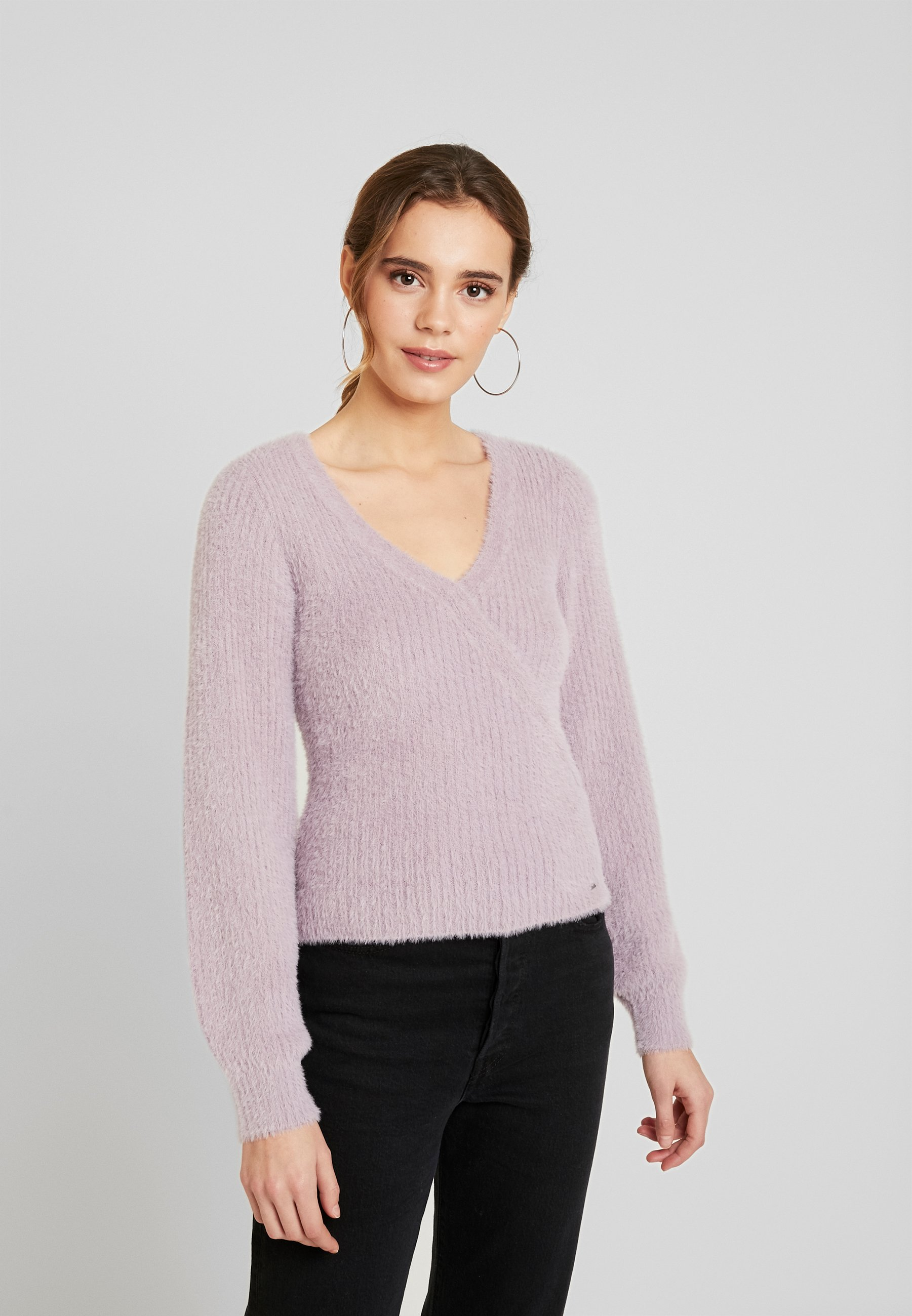 Hollister Co. WRAP FRONT - Sweter - sea fog