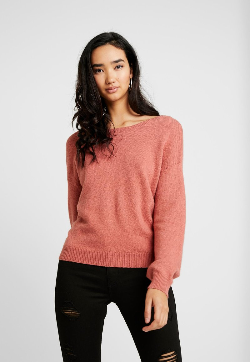 Hollister Co. - TWIST BACK - Pullover - canyon rose