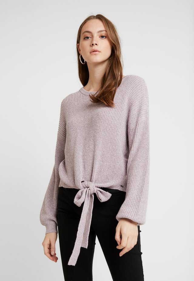 MULTI WAY TIE FRONT SWEATER - Stickad tröja - lilac