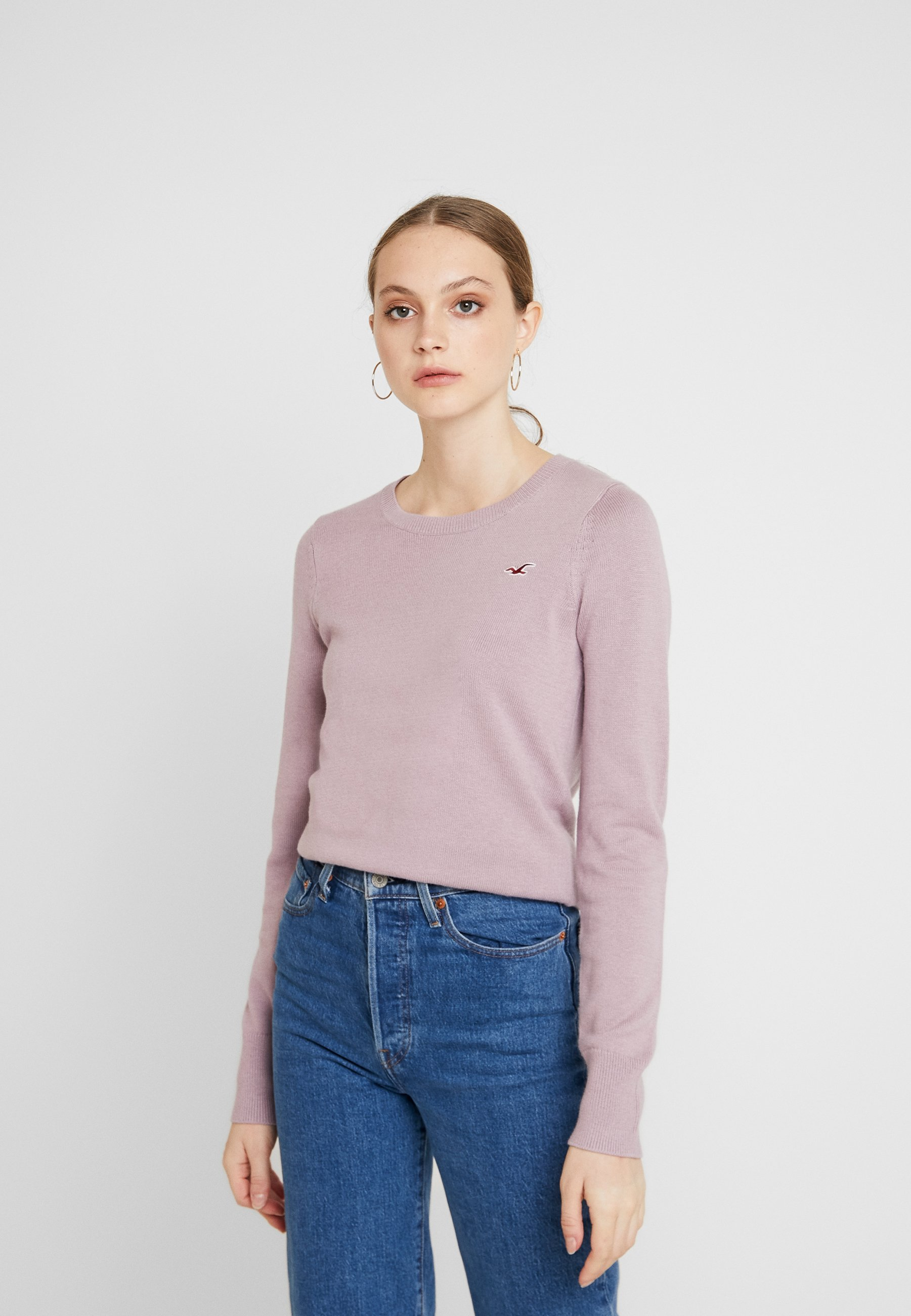 Hollister Co. ICON CREW - Sweter - lilac