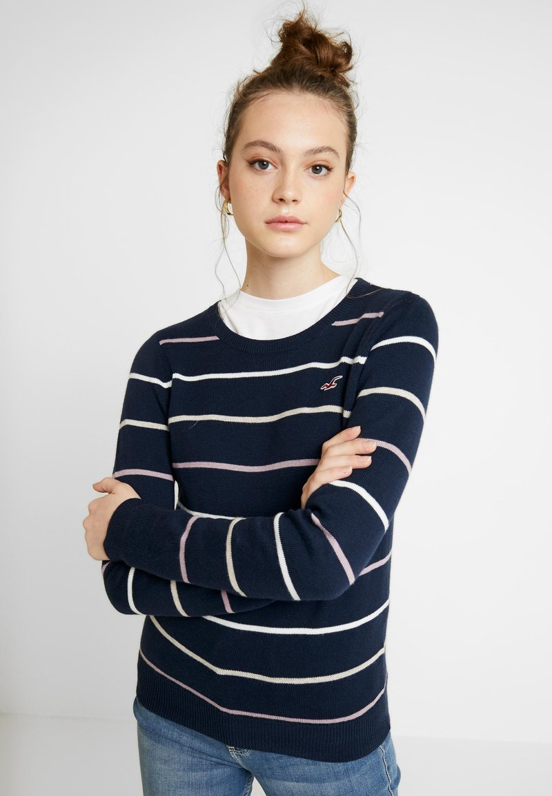 Hollister Co. - ICON CREW - Sweter - navy