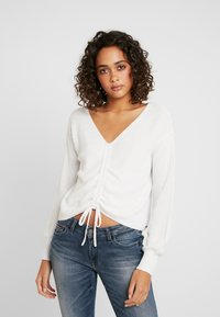 Hollister Co. - CINCH FRONT - Svetr - white - 0