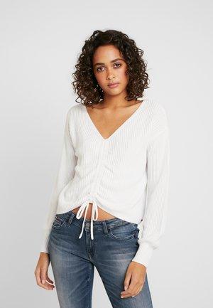 CINCH FRONT - Jersey de punto - white