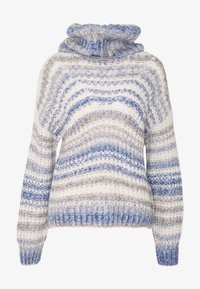 Hollister Co. - TURTLENECK - Trui - grey, dark blue - 5