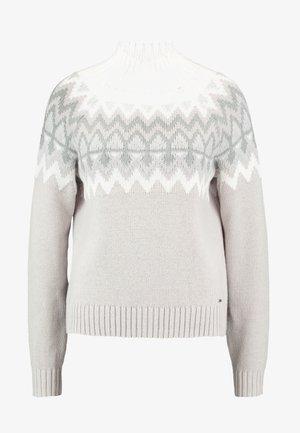 Strikkegenser - white pattern