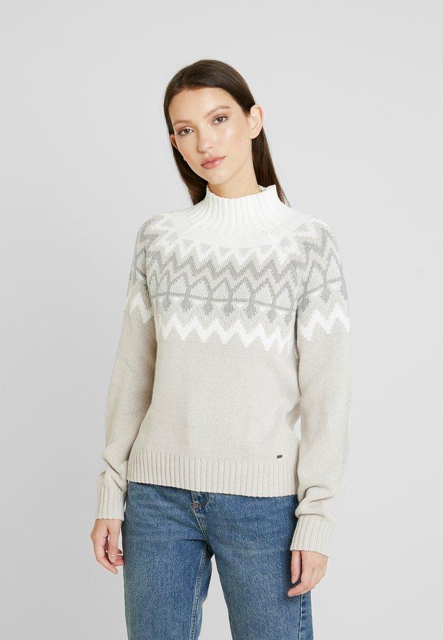 Jersey de punto - white pattern