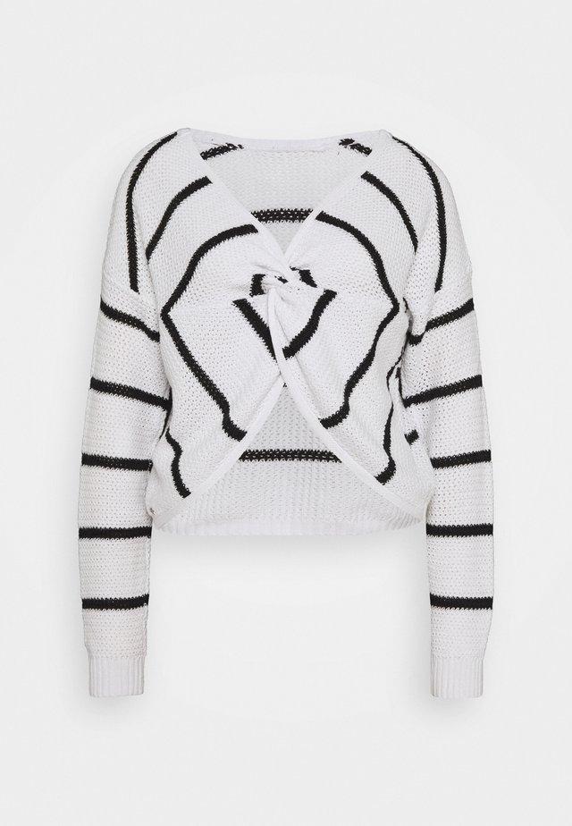 TWIST BACK REVERSIBLE - Stickad tröja - white