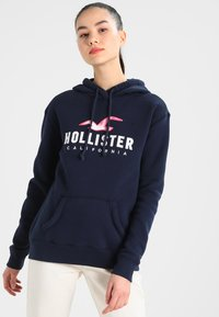 Hollister Co. - CORE - Felpa con cappuccio - navy - 0
