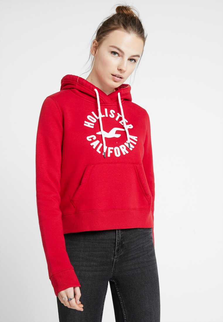 Hollister Co. - TECH CORE LOGO - Hoodie - red