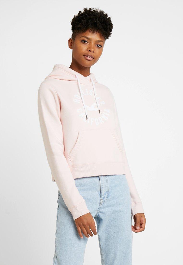 Hollister Co. - TECH CORE LOGO - Bluza z kapturem - blush
