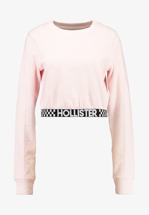 85% ZNIŻKI Hollister Co. ULTRA CROP CREW WITH LOGO BAND - Bluza - pink Odzież Damska YAQZ-EX3