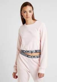 Hollister Co. - ULTRA CROP CREW WITH LOGO BAND - Mikina - pink - 0