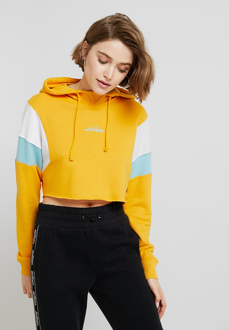Hollister Co. - ULTRA CROP - Kapuzenpullover - yellow