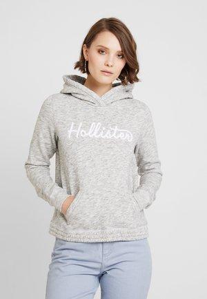 HALF ZIP - Felpa con cappuccio - grey
