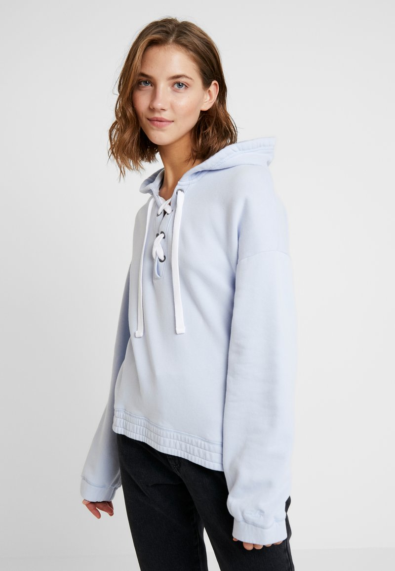 Hollister Co. - OVERSIZED COLORBLOCK - Kapuzenpullover - light blue